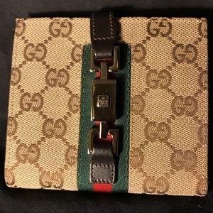 Gucci Canvas Compact Wallet